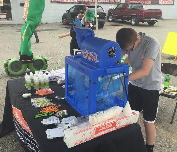 Sno Cone Booth at 2016 Gus Macker