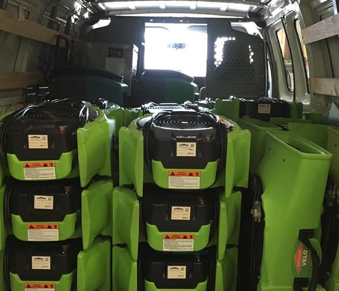 New SERVPRO van loaded for Immediate Response